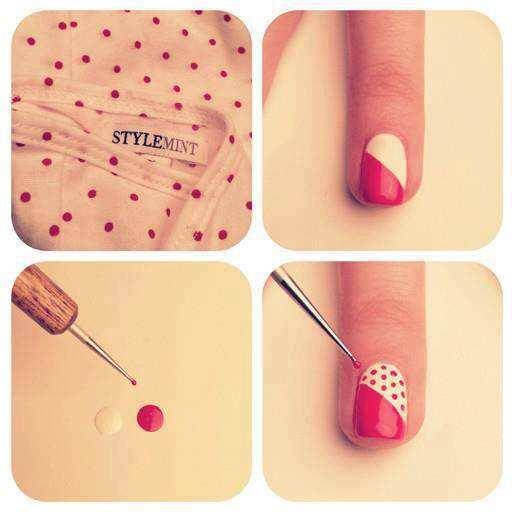 Manicure fai da te semplice: le unghie a poi con il tutorial