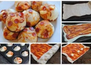 Muffin di pizza ripiene.