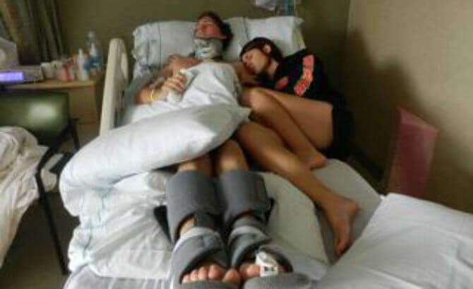 Matt Davis and Danielle Josey Davis in Hospital