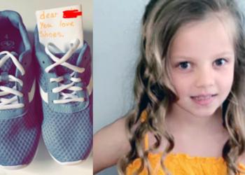 Avah, la bambina che ha regalato le scarpe all'amico preso in giro dai bulli