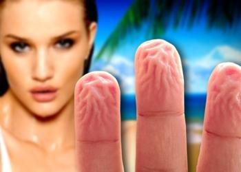 Pelle delle mani: il motivo per cui si raggrinzisce in acqua