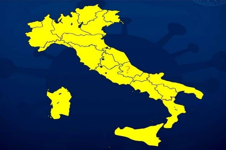 italia in zona gialla