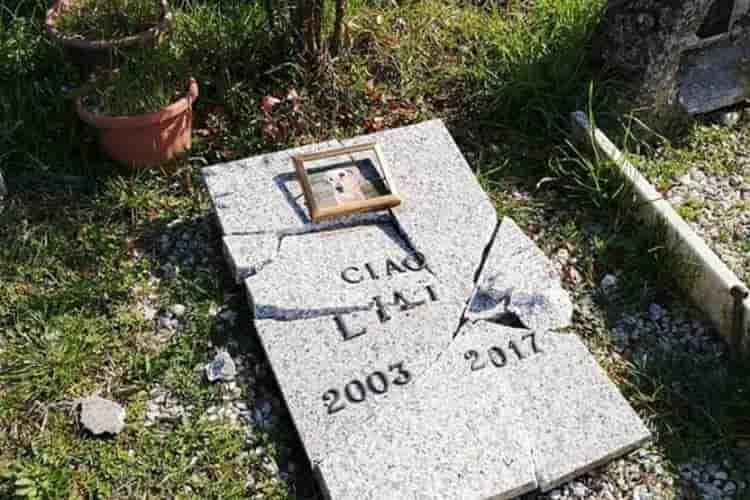 Vandali al cimitero degli animali: Ad Alessandria diverse lapidi abbattute